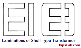 Lamination of shell type transformer