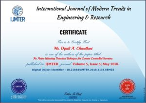 Dipali Research Journal Published