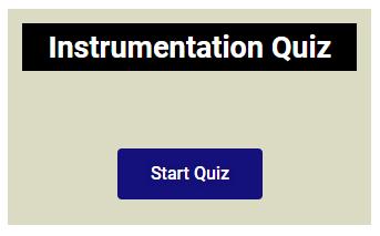 Instrumentation quiz