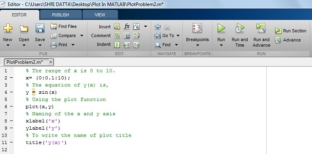 How To Plot Matlab Graph Using Simple Functions And Code