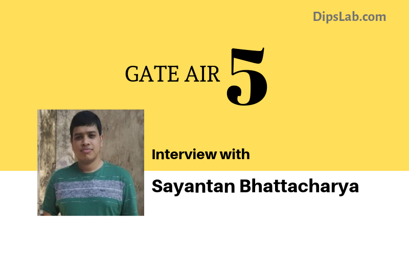 Sayantan Battacharya (AIR 5) interview