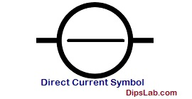 Direct current (DC) symbol