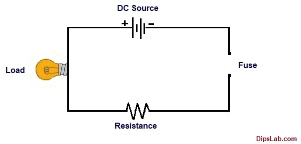 Circuit diagram of without fuse