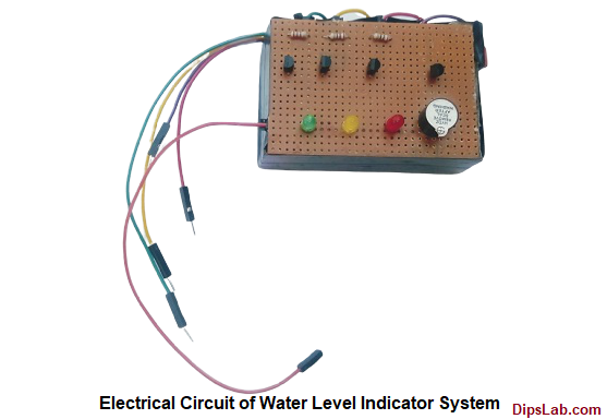 Water Level Indicator System Electrical Circuit