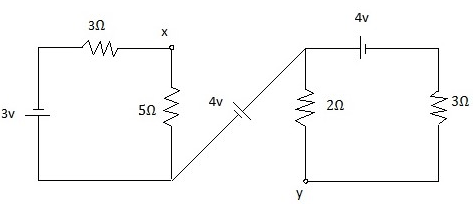 Kirchhoffs laws circuit digram problem