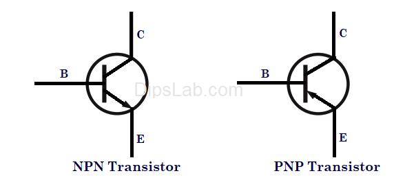 npn and pnp transistors symbol